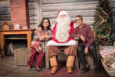 Santa with Andrew and Mala - Photo taken by Santa's photographer