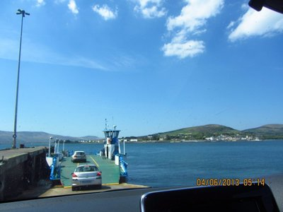 Small Ferry which took us to the Valentia Island