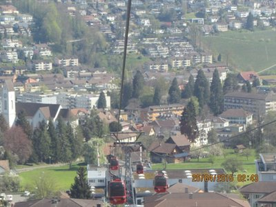 Smaller cable cars in first stage