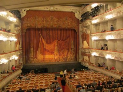 Stage of the Theatre before the Ballet started