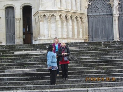 Sue,Helen and Mala near the Cathedral