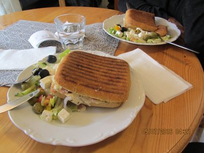 Swedish Cheese Burger in Kalix, Lyktan Cafe