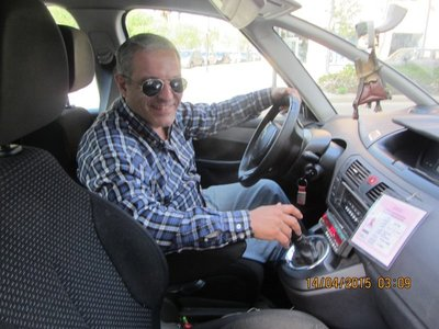 The cab driver where Helen lost and found her Camera