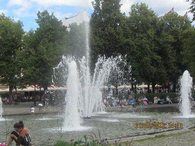 Water Fountain near Oslo city centre