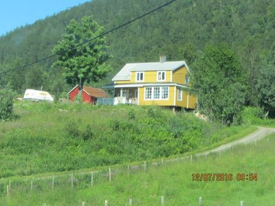 Yellow and Red houses- popular house colours in Norway