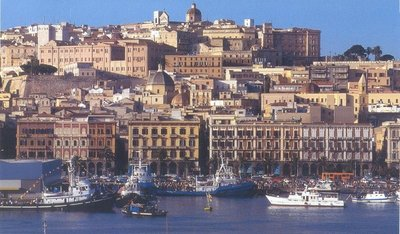 Cagliari, seen from the sea