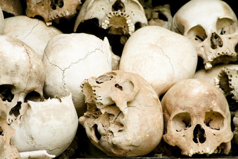 Skulls of Khmer Rouge victims