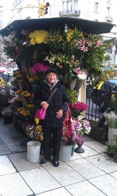 Beautiful flowers on every corner