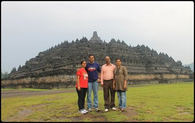 Group photo at Borobudur Temple