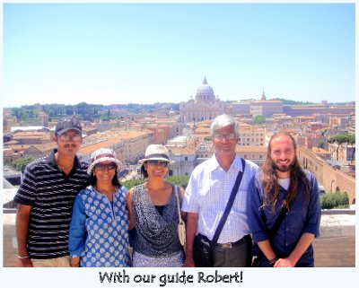 With guide Robert