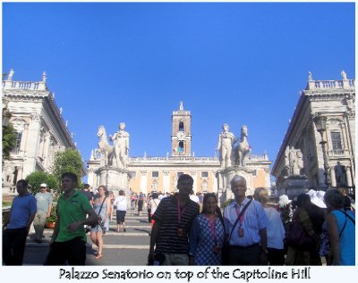 Palazzo Senatorio on top of the Capitoline Hill