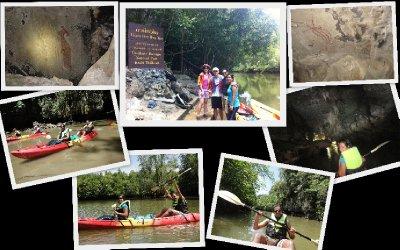 Limestone cave kayaking