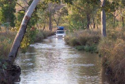 Water crossing to access El Questro Gorge