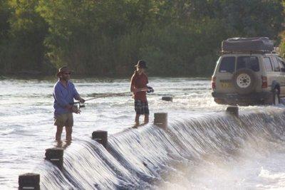 Fishing Ivanhoe Crossing 9 Klm north of Kununurra