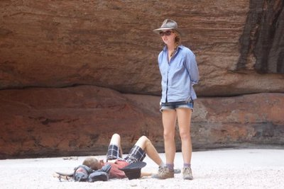 Time to chill in Cathedral Gorge at the end of a hot walk