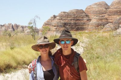 Walking in Purnululu NP