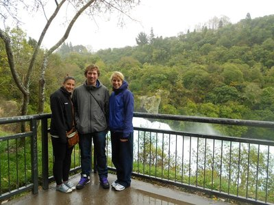 Martha, Liam and I at Haku Falls