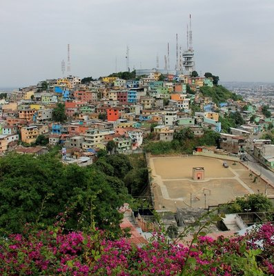 View over Guayaquil from Cerro Santa Ana