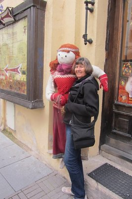 NORMA AND ONE OF THE SHOP DOLLIES