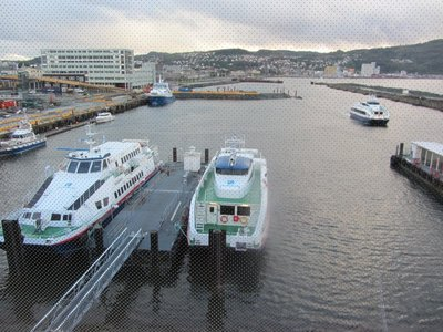 High speed ferries at the Express Boat Terminal.