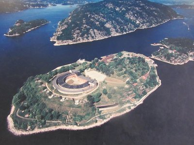 OSCARSBORG FORTRESS FROM THE AIR