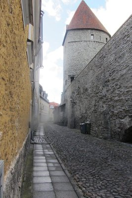 A STREET IMMEDIATELY INSIDE THE WALL