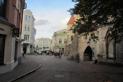 IN TALLINN OLD TOWN THE SIZE OF ADVERTISING SIGNS IS STRICTLY ENFORCED.