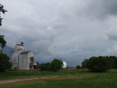 Grain Elevator and Coming Storm