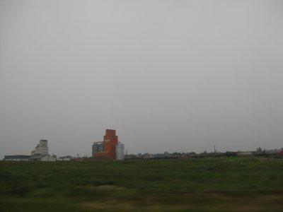 Grain Elevators in the Rain