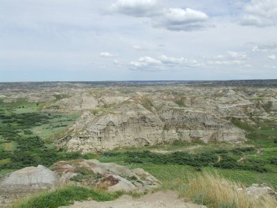 Glimpse from above of Dinosaur Provincial Park