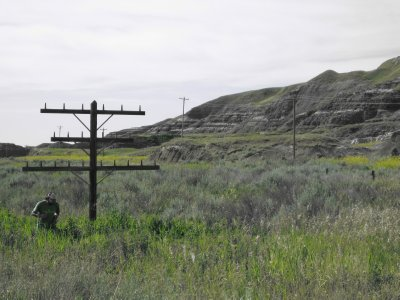 A Man and A Powerline - Geocaching