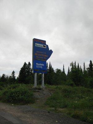 Entering Manitoba