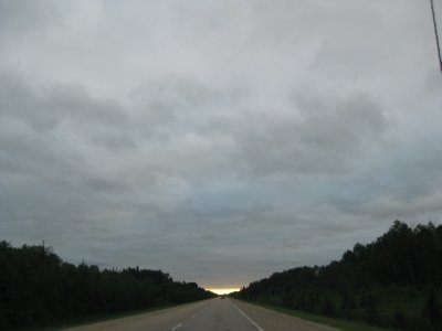 Westbound: Driving Into Sun