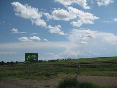 Entering North Dakota