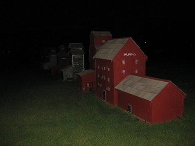 Mini Farm town at Night