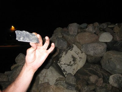 Sneaky cache! Clever Jer! We found this geocache in a pile of rocks in a rock garden at night!