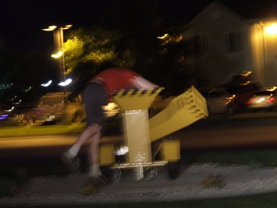 What Else To Do At 1 am, But Hide The Evidence? (Pretend this blurry pic is an action shot, but in truth I couldn't figure out his camera at night!)