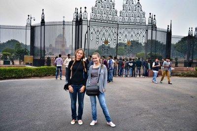 me & vika @ President Palace