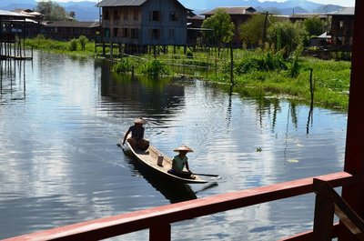 boat on Inle