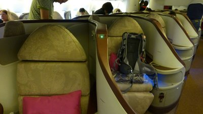 Angled Seating Thai Airways Business class