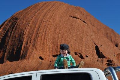 Mack at Uluru