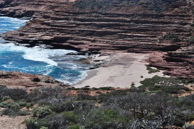 One of the many secluded beaches along the coast