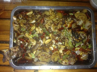 Sichuan BBQ carp