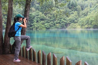 One of the beautiful lakes in Juizhaigou National Park