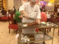 Carving Beijing (Peking) Roast Duck