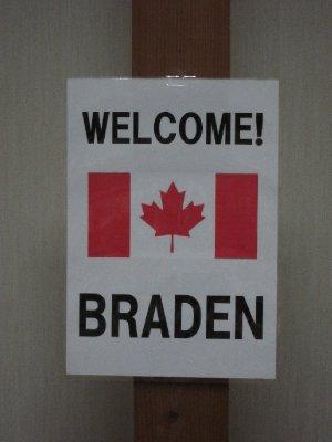 Welcome Braden!