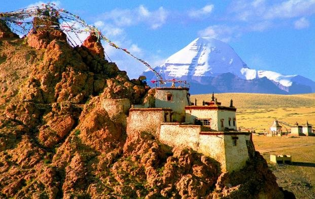 Temple Near Kailash Mansarovar Parvat