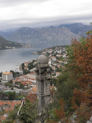 Hiking the city walls and fortress of Kotor