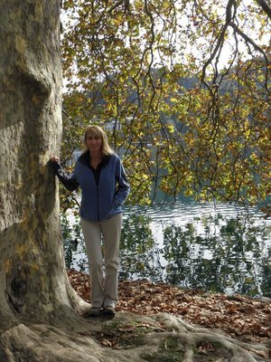 Linda at Lake Bled