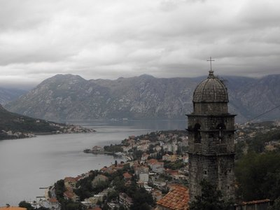 On hike of the City walls and fortress of Kotor